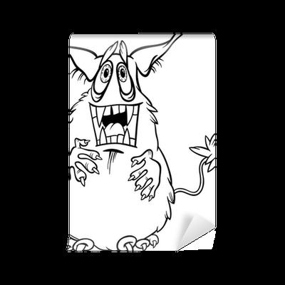 Fotomural Ilustración monstruo de dibujos animados para colorear ...