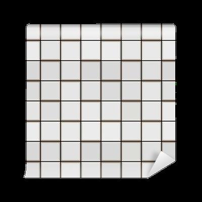 Fotomural modelo 3d azulejo blanco pixers vivimos for Azulejos pvc autoadhesivos