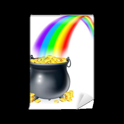 Fotomural Olla de oro al final del arco iris • Pixers® - Vivimos ...