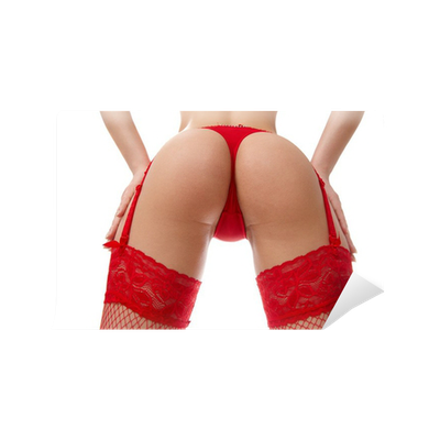 Fotomural sexy nalgas femeninas en ropa interior roja for Ropa interior roja