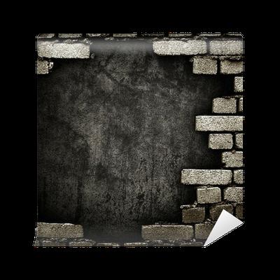 fototapete backsteinmauer mit loch pixers wir leben um zu ver ndern. Black Bedroom Furniture Sets. Home Design Ideas