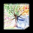 Vinyl-Fototapete Baum in den vier Jahreszeiten