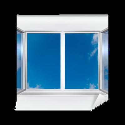 fototapete blick aus dem fenster des blauen himmel pixers wir leben um zu ver ndern. Black Bedroom Furniture Sets. Home Design Ideas