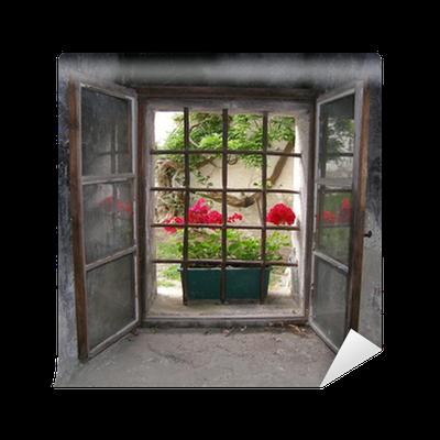 fototapete blick aus dem vergitterten fenster einer burg pixers wir leben um zu ver ndern. Black Bedroom Furniture Sets. Home Design Ideas