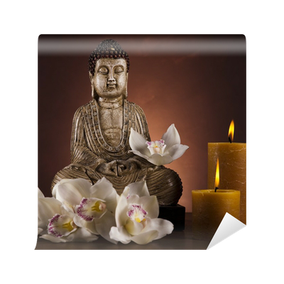 fototapete buddha mit kerze pixers wir leben um zu ver ndern. Black Bedroom Furniture Sets. Home Design Ideas
