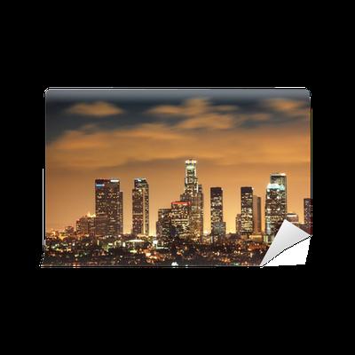 fototapete downtown los angeles skyline pixers wir leben um zu ver ndern. Black Bedroom Furniture Sets. Home Design Ideas