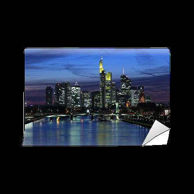 fototapete frankfurt skyline bei nacht pixers wir leben um zu ver ndern. Black Bedroom Furniture Sets. Home Design Ideas