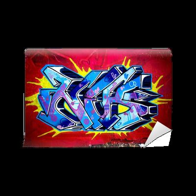 fototapete graffiti wall urban scene pixers wir leben um zu ver ndern. Black Bedroom Furniture Sets. Home Design Ideas
