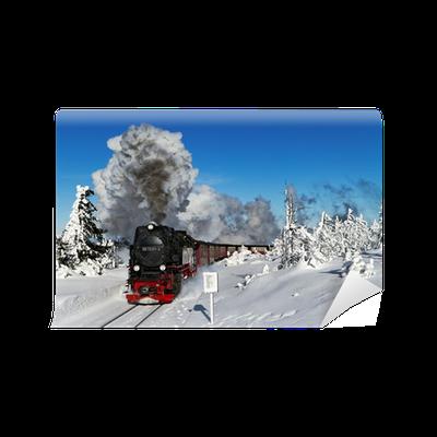 Fototapete harz brockenbahn mit dampflok 99 7237 3 pixers wir leben um zu ver ndern - Wandtattoo dampflok ...