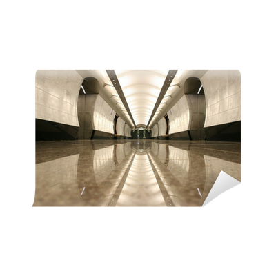 Fototapete leere u bahnstation boden pixers wir leben for Boden aktionscode