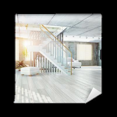 Fototapete Loft-Interieur, 3D • Pixers® - Wir leben, um zu verändern