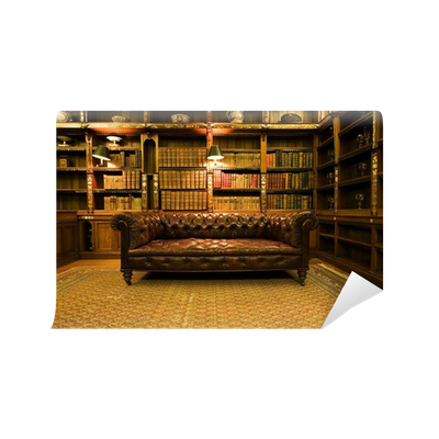 fototapete retro braune ledercouch pixers wir leben um zu ver ndern. Black Bedroom Furniture Sets. Home Design Ideas