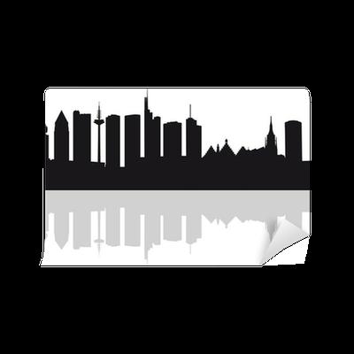 fototapete skyline frankfurt am main silhouette pixers wir leben um zu ver ndern. Black Bedroom Furniture Sets. Home Design Ideas