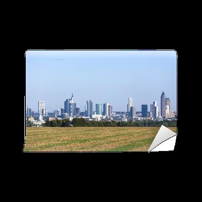 fototapete skyline von frankfurt pixers wir leben um zu ver ndern. Black Bedroom Furniture Sets. Home Design Ideas