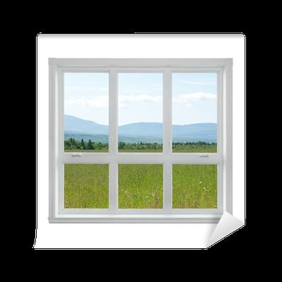 fototapete sommer landschaft durch das fenster gesehen pixers wir leben um zu ver ndern. Black Bedroom Furniture Sets. Home Design Ideas