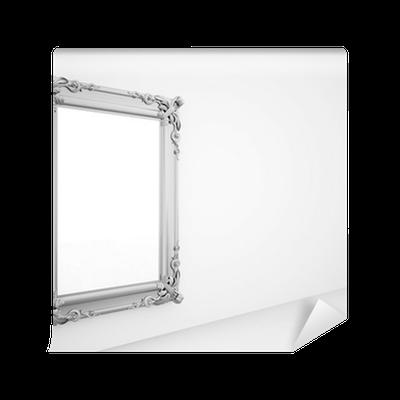 fototapete spiegel mit vintage silberrahmen pixers. Black Bedroom Furniture Sets. Home Design Ideas
