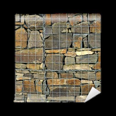 Fototapete Stein Käfig Drahtgeflecht • Pixers® - Wir leben, um zu ...