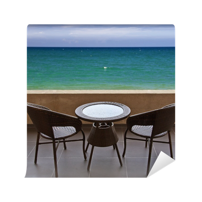 Fototapete Terrasse, Meerblick U2022 Pixers®   Wir Leben, Um Zu Verändern