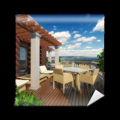 Fototapete Terrasse Mit Meerblick U2022 Pixers®   Wir Leben, Um Zu Verändern