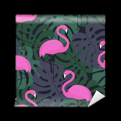 Fototapete tropical nahtlose muster mit rosa flamingos auf for Schule fur mode und design