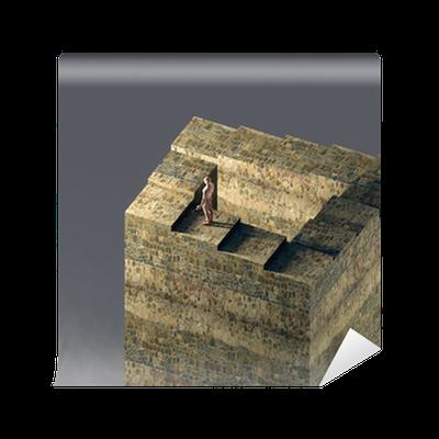 fototapete unendliche treppe optische t uschung pixers. Black Bedroom Furniture Sets. Home Design Ideas