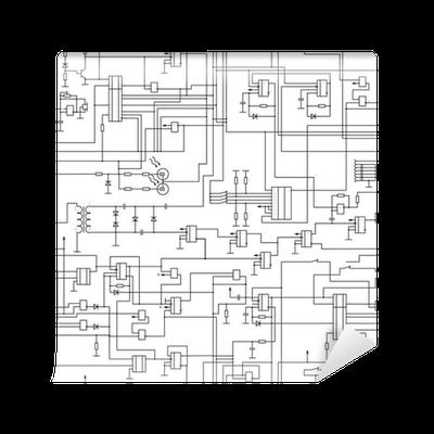 Fototapete Vektor nahtlose Muster elektrischen Schaltplan • Pixers ...