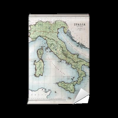 Gammal Karta Italien.Fototapet Gammal Karta Over Italien 1870 Pixers Vi Lever For