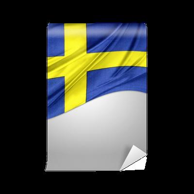Fototapet Svenska Flaggan Pixers Vi Lever For Forandring