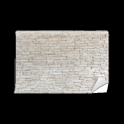 Fototapeta Winylowa Białe płytki kamienne ściany tekstury cegły