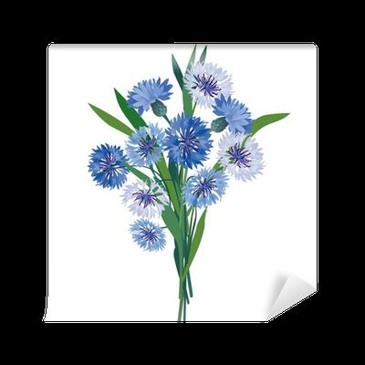 534273691cf20f Fototapeta Bukiet kwiatów. kwiatów ilustracji wektorowych. chaber izolowane  • Pixers® - Żyjemy by zmieniać