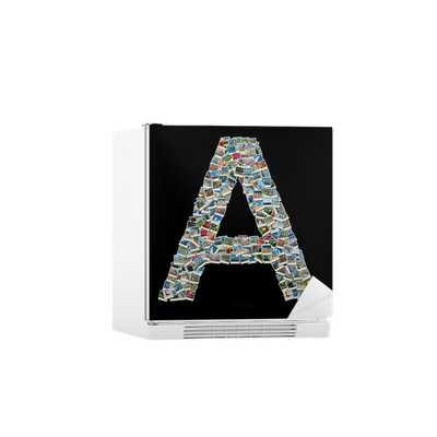 Shape Of Letter A Made Of Travel Photos Fridge Sticker Pixers We Live To Change