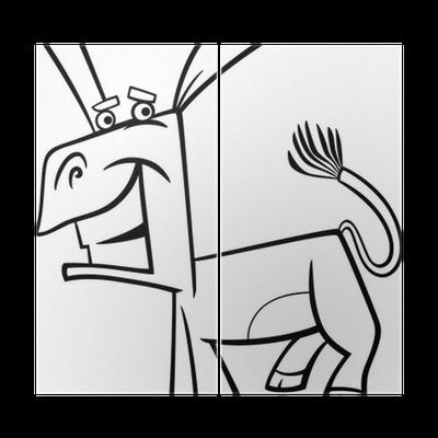 Komik Eşek Karikatür Boyama Iki Parçalı Pixers Haydi Dünyanızı