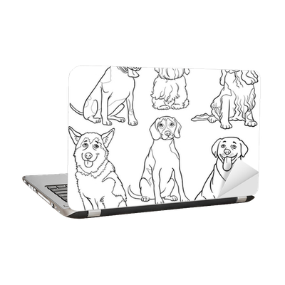 Laptop-Aufkleber Cartoon Hunde oder Welpen Malvorlagen • Pixers ...