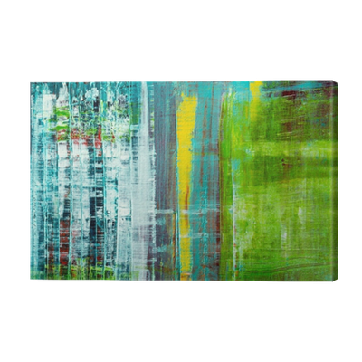Leinwandbild abstrakt bemalte leinwand lfarben auf einer palette pixers wir leben um zu - Bemalte leinwande ...