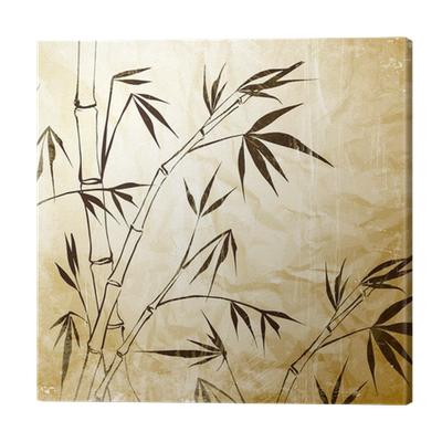 Leinwandbild Bamboo Malerei U2022 Pixers®   Wir Leben, Um Zu Verändern