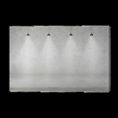 leinwandbild betonwand mit beleuchtung pixers wir leben um zu ver ndern. Black Bedroom Furniture Sets. Home Design Ideas