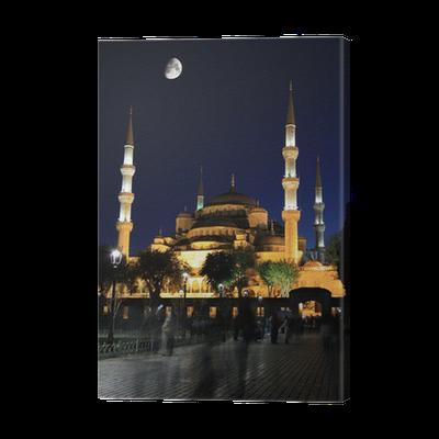 Moschee bei Nacht Leinwandbild