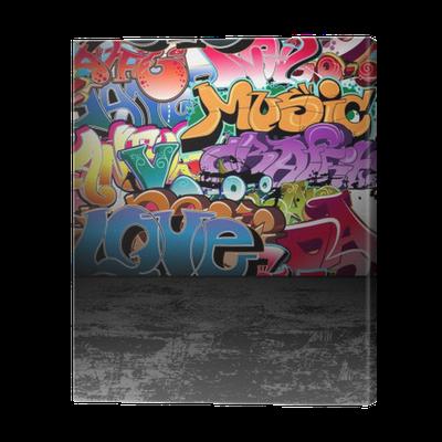 leinwandbild graffiti wall urban street art painting pixers wir leben um zu ver ndern. Black Bedroom Furniture Sets. Home Design Ideas