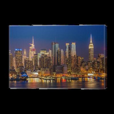 leinwandbild new york city manhattan midtown geb ude. Black Bedroom Furniture Sets. Home Design Ideas