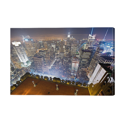 leinwandbild new york vue de nuit pixers wir leben um zu ver ndern. Black Bedroom Furniture Sets. Home Design Ideas