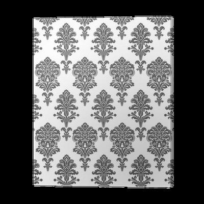 leinwandbild schwarzweiss damast zier pixers wir leben um zu ver ndern. Black Bedroom Furniture Sets. Home Design Ideas