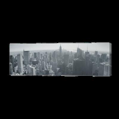 leinwandbild skyline von new york schwarz und wei pixers wir leben um zu ver ndern. Black Bedroom Furniture Sets. Home Design Ideas