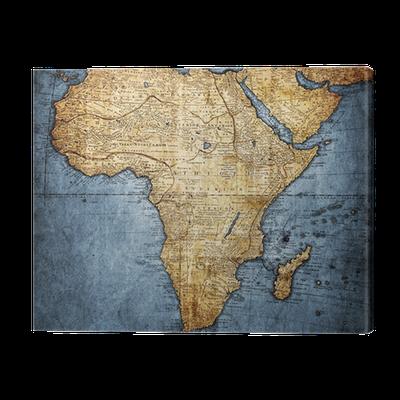 leinwandbild vintage karte afrika pixers wir leben. Black Bedroom Furniture Sets. Home Design Ideas