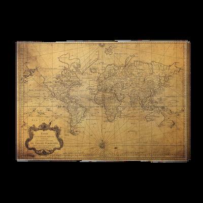 leinwandbild vintage karte der welt 1778 pixers wir. Black Bedroom Furniture Sets. Home Design Ideas