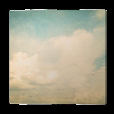 leinwandbild vintage natur hintergrund der himmel mit. Black Bedroom Furniture Sets. Home Design Ideas