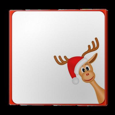 leinwandbild weihnachten rentiere in leeren rahmen mit rotem rand pixers wir leben um zu. Black Bedroom Furniture Sets. Home Design Ideas