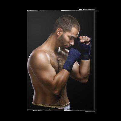 1c1b4d4e Lerretsbilde Muay thai bokser mann • Pixers® - Vi lever for forandring