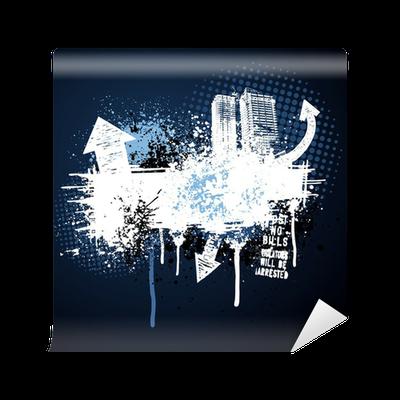 papier peint cadre bleu fonc grunge ville pixers nous vivons pour changer. Black Bedroom Furniture Sets. Home Design Ideas