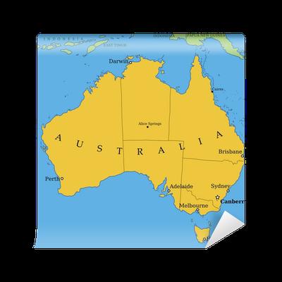 Carte Australie Principales Villes.Papier Peint Carte De L Australie Avec Les Grandes Villes Et Les Provinces Pixers Nous Vivons Pour Changer