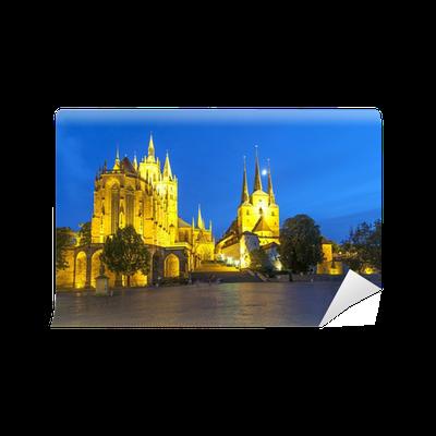 Papier Peint Cathedrale D Erfurt Dans La Soiree Pixers Nous